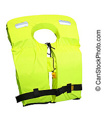Life jacket isolated included clipping path