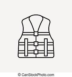 Life jacket line icon