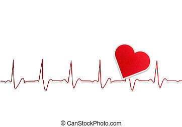 Life line. heart - Heart and electrocardiogram :clipping...