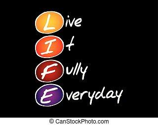 LIFE - Live It Fully Everyday, acronym