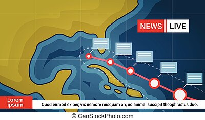Life News About Hurricane Weather Broadcast Storm Or Tornado Image Coming To Usa Coast Concept