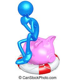 Life Preserver Banking Concept