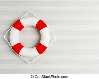 life preserver on the wall