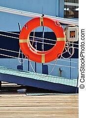 life preserver ring on deck