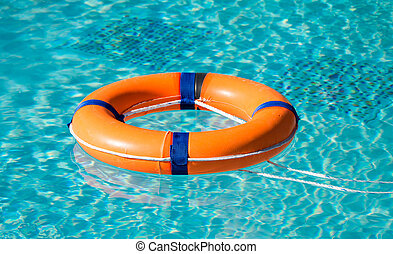 Life ring on the water