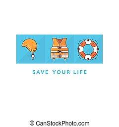Life save icons