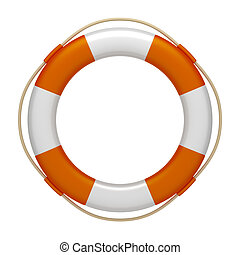 life saver - An image of an orange white life saver