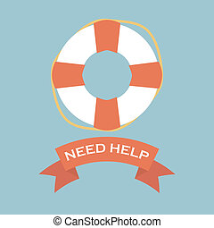 Life Saver with need help banner sign