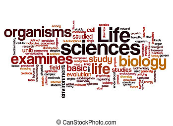life sciences biology concept background on white