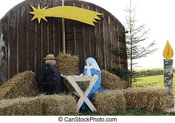 life-size nativity scene - lebensgrosse Weihnachtskrippe