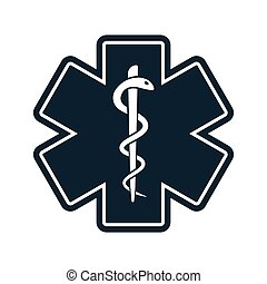 life star medical snake icon on white background