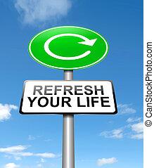life., su, refrescar