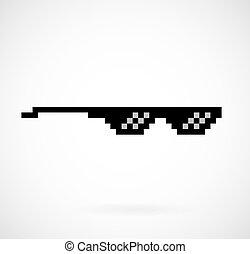 life thug pixel glasses - pixel glasses vector meme glasses