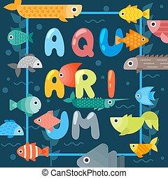 life., tipográfico, cartaz, cobertura, illustration., ...