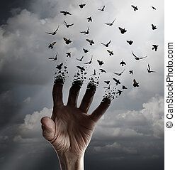 Life Transformation - Life transformation concept as a hand ...