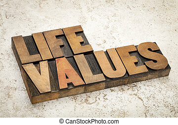 life values in wood type