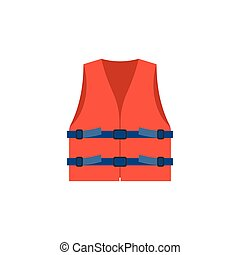 life vest icon, red life vest jacket for children ...