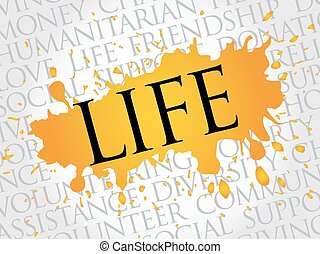 Life word cloud