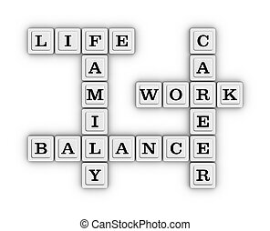 Life Work Balance Crossword Puzzle.