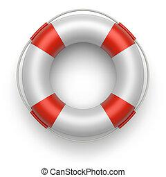 Lifebelt 3d - Lifebuoy on a white background. 3d image