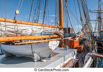 Lifeboat of a large sailing ship