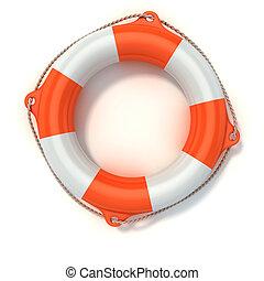 lifebuoy 3d illustration isolated on white