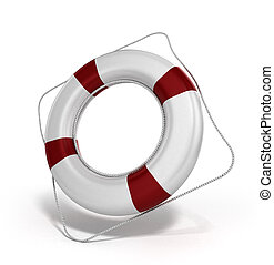 lifebuoy 3d illustration on a white background
