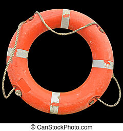Lifebuoy - A life buoy for safety at sea - isolated over ...