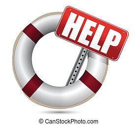 lifebuoy, aiuto, rosso, segno