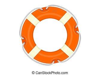 Lifebuoy. Cartoon lifebelt on a white background. Flat...