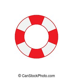 Lifebuoy icon isolated on white background. Vector illustration