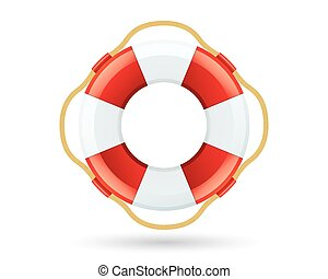 Lifebuoy Icon Isolated On White