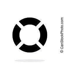 Lifebuoy icon on white background.