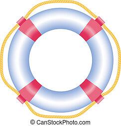 Lifebuoy, isolated on white, vector