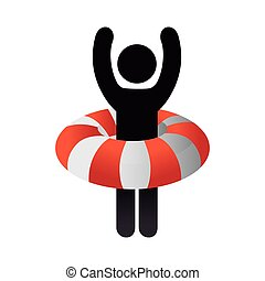 lifebuoy, laranja, flutuador