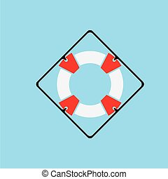 Lifebuoy logo icon vector ilustration