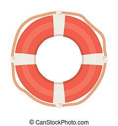 lifebuoy nautical maritime isolated design icon white background