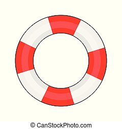 Lifebuoy on a white background