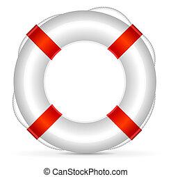 Lifebuoy - Realistic lifebuoy on white background