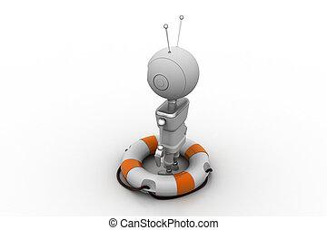 lifebuoy, robot