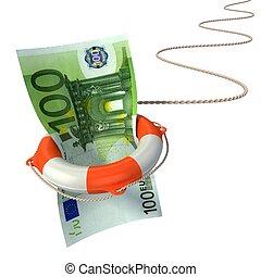 lifebuoy saving euro 3d concept