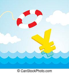 lifebuoy, señal de yenes
