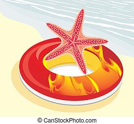 lifebuoy, starfish