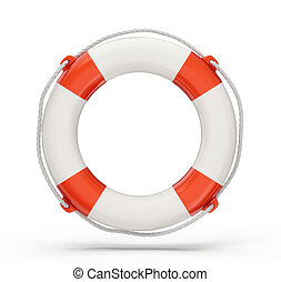 lifebuoy isolated on a white background. 3d illustration