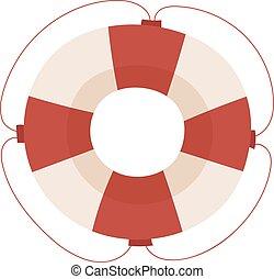 Lifebuoy vector icon illustration.