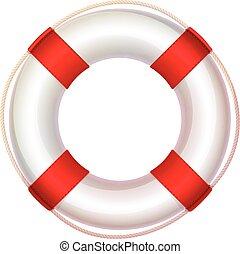 lifebuoy, vector, icono, salvavidas