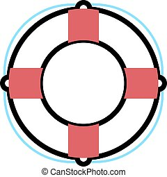 lifebuoy, vector, illustration.