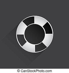 lifebuoy web flat icon.