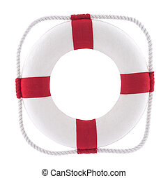 Lifebuoy with clipping path