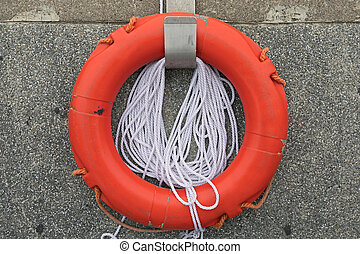 Lifebuoy With Rope